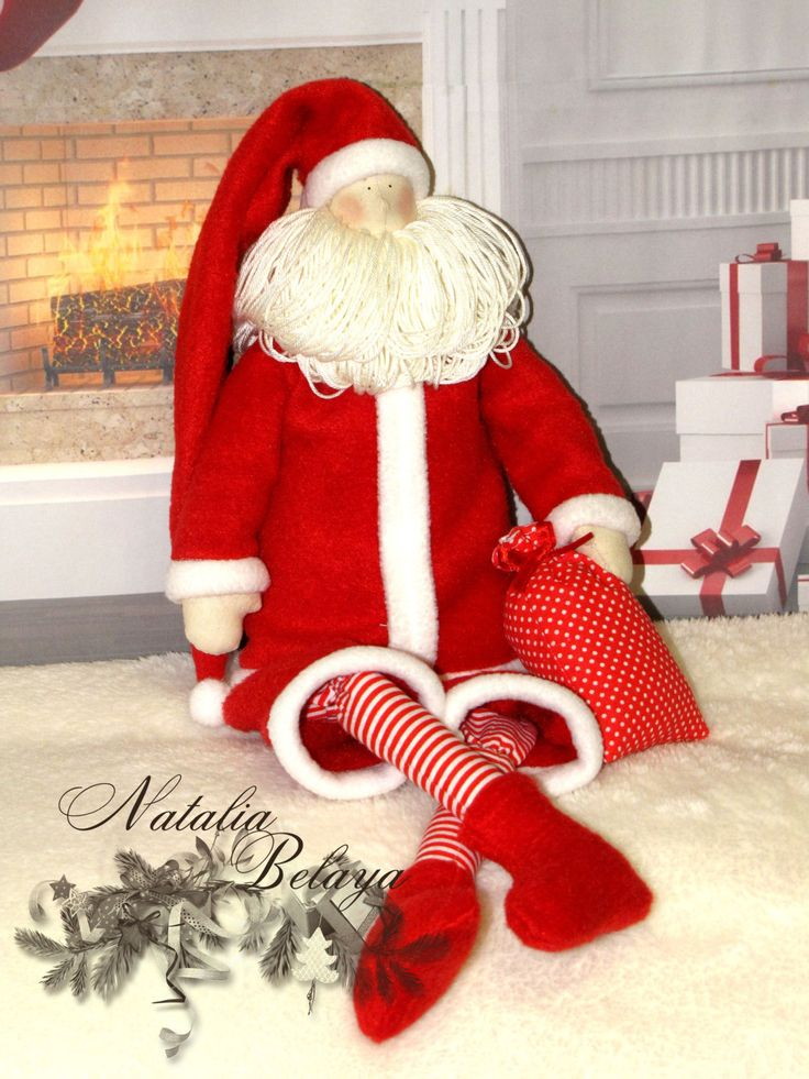 Дед Мороз. Тильда куклы. Рождественская ткань куклы. по LightDolls
