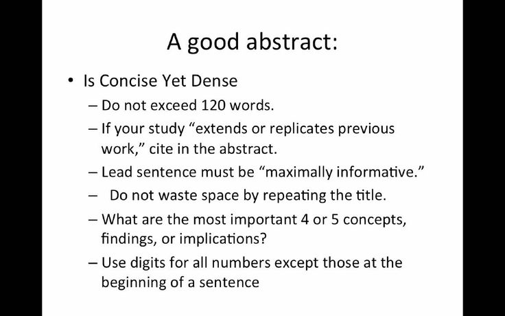 Writing An Abstract  How To Write An Abstract For Research Paper