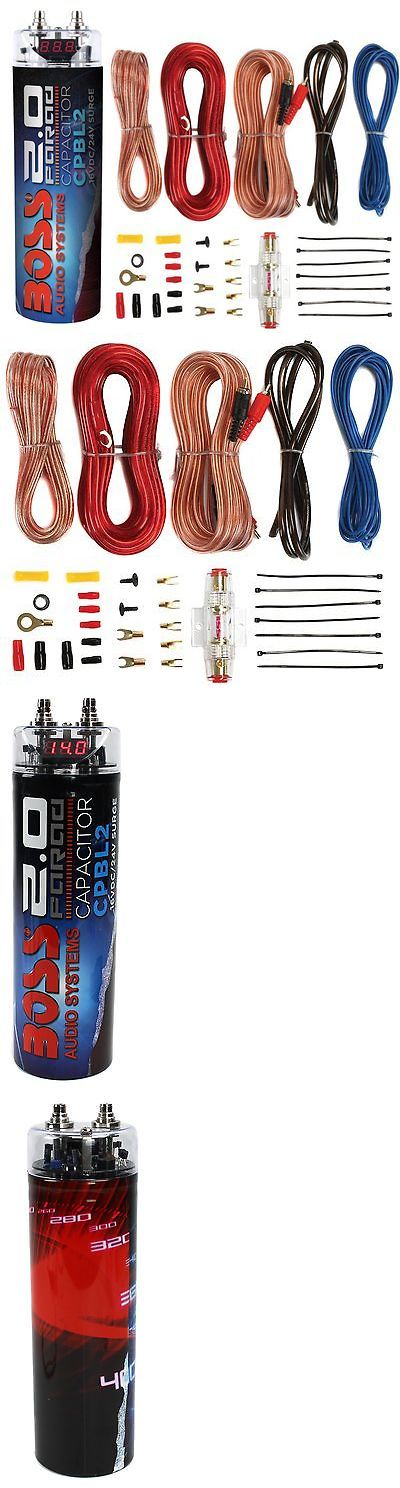 Capacitors: Boss Cpbl2 2 Farad Car Digital Voltage Capacitor Power Audio Cap+8 Ga Amp Kit -> BUY IT NOW ONLY: $41.95 on eBay!