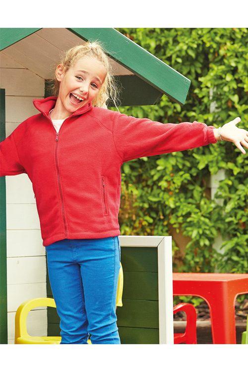 Jachetă din polar de copii Fruit of the Loom | logofashion.ro #polare #fleece #polarepersonalizate #textilepromotionale #polarebrodate #polareimprimate