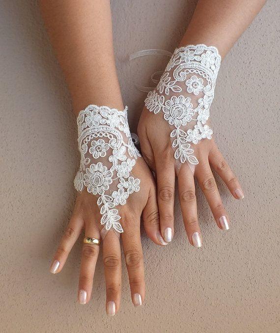 ivory wedding glove Bridal Glove ivory lace by WEDDINGGloves, $30.00