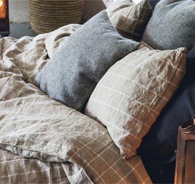 Lovely linen check örngott – Natural & white från Lovely Linen by Kardelen hos ConfidentLiving.se