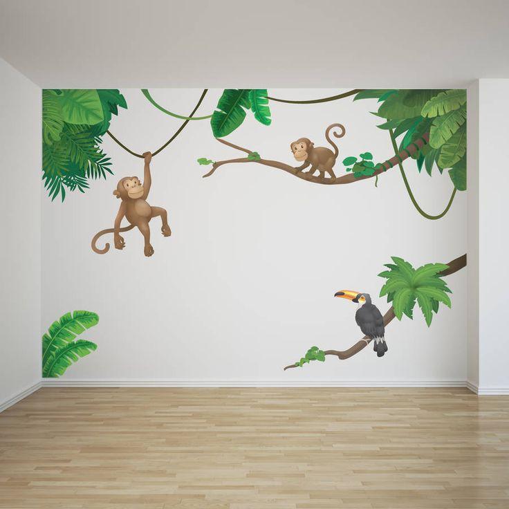 Jungle Monkey Childrenu0027su0027 Wall Sticker Set Part 79