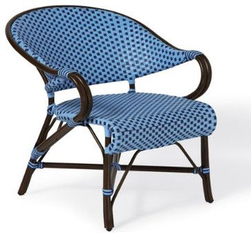 Monet Cafe Outdoor Lounge Chair - traditional - Outdoor Chaise Lounges - Grandin Road