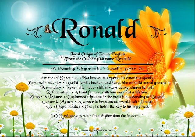 what does the name ronald mean