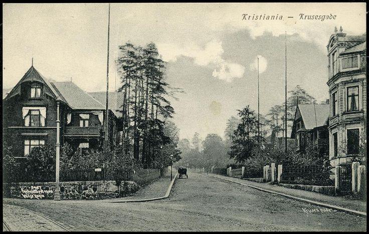 Christiania Kristiania Kruses gade tidlig 1900-tall. Utg Küenholdt