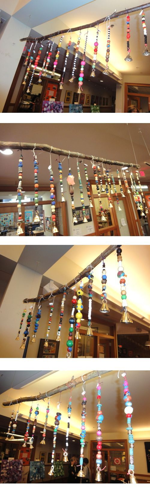 style carrot: Beautiful threaded 'Peace Beads' - a lovely way to display threading #Reggio Emilia