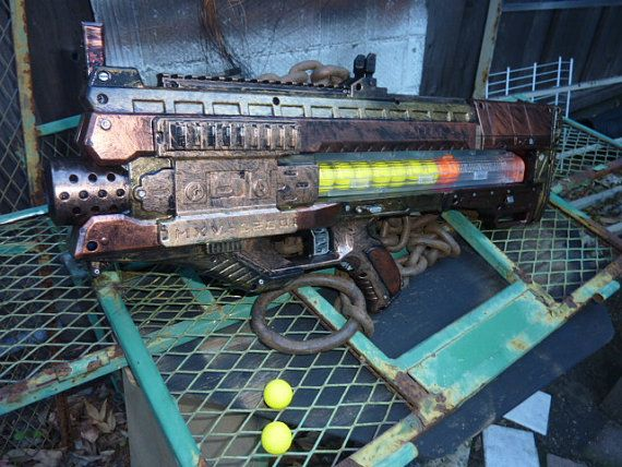 Steampunk - STEAMPUNK nerf RIVAL Zeus MXV-1200 Blaster  One of a Kind!!! by SteamPunkLabratory