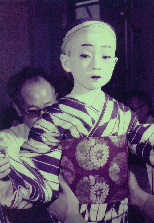 Bando Tamasaburo as a child.
