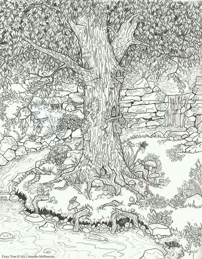 318 best landscape coloring drawings images on pinterest Landscape coloring books for adults