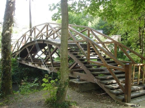 Clos Lucé : Le jardin de Léonard Le pont tournant