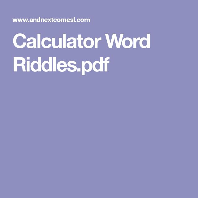 Calculator Word Riddles.pdf