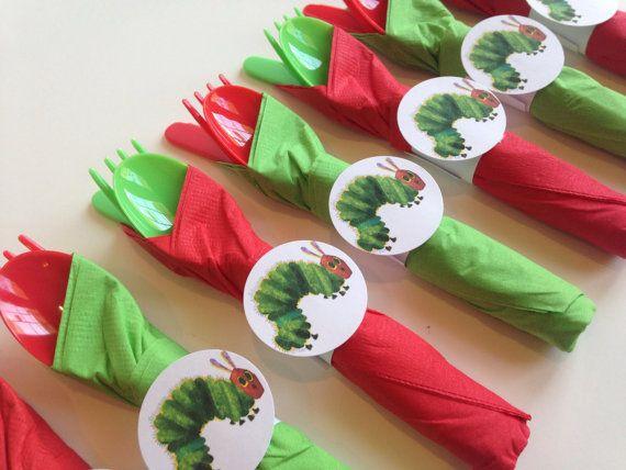 Hungry Caterpillar Birthday Party Cutlery by AlishaKayDesigns