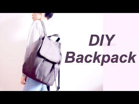 (38) DIY Backpack // リュックサック / バックパックの作り方ㅣmadebyaya - YouTube