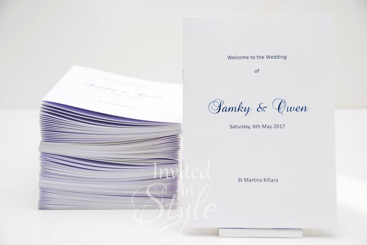 Order of Service, church booklets, order of proceedings, wedding programs - full design and assembly by InvitedinStyle on Etsy