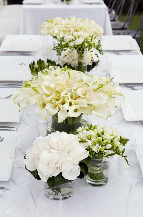 Lily Vase Wedding Flowers : Best images about wedding table flowers on