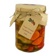ΤΟΥΡΣΙ ΠΙΠΕΡΙΑ MΕ ΒΑΛΣΑΜΙΚΟ ΞΥΔΙ Τουρσί φτιαγμένο με εξαιρετική πράσινη και κόκκινη πιπεριά, καρότο, σέλινο, βαλσάμικο ξύδι - σπιτικό ξύδι, λάδι, και αλάτι.