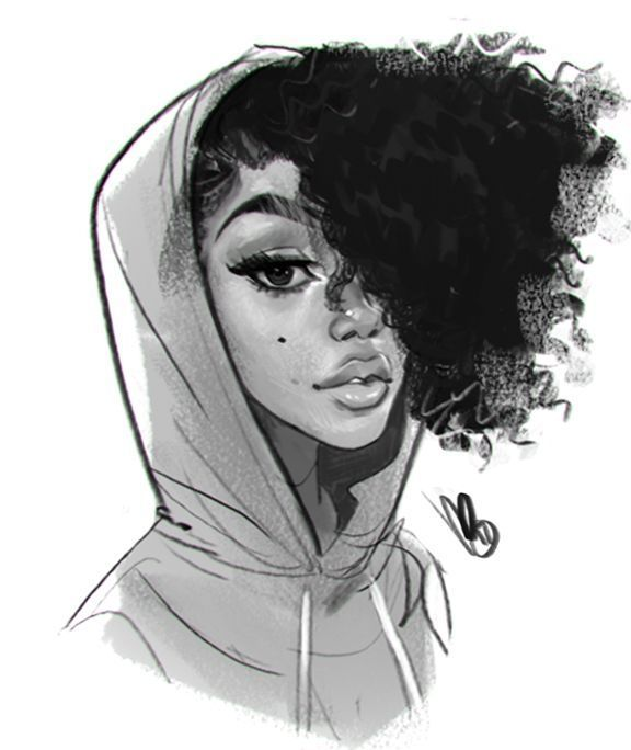 Funky Frisur Zeichnungen