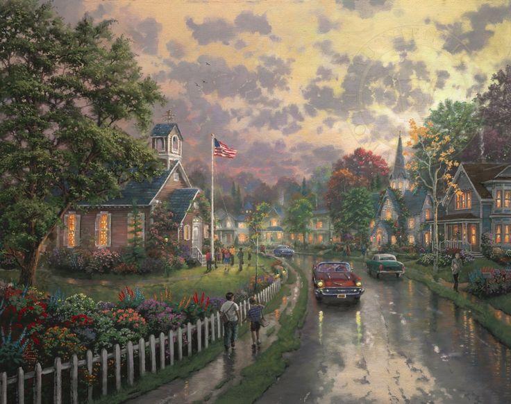 Morning Pledge - Thomas Kinkade