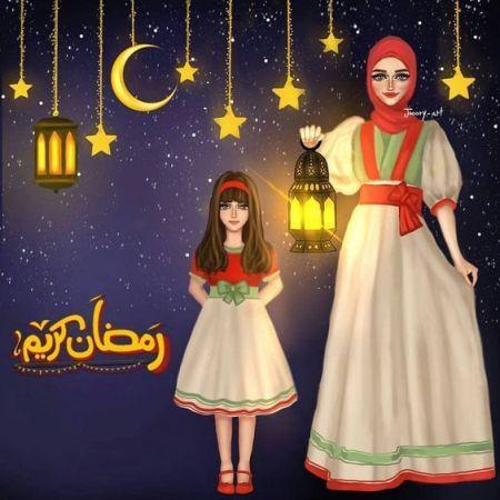 رمزيات مرسومة ملونة خاصة بشهر رمضان اخبار العراق Islamic Girl Ramadan Kareem Decoration Ramadan Images