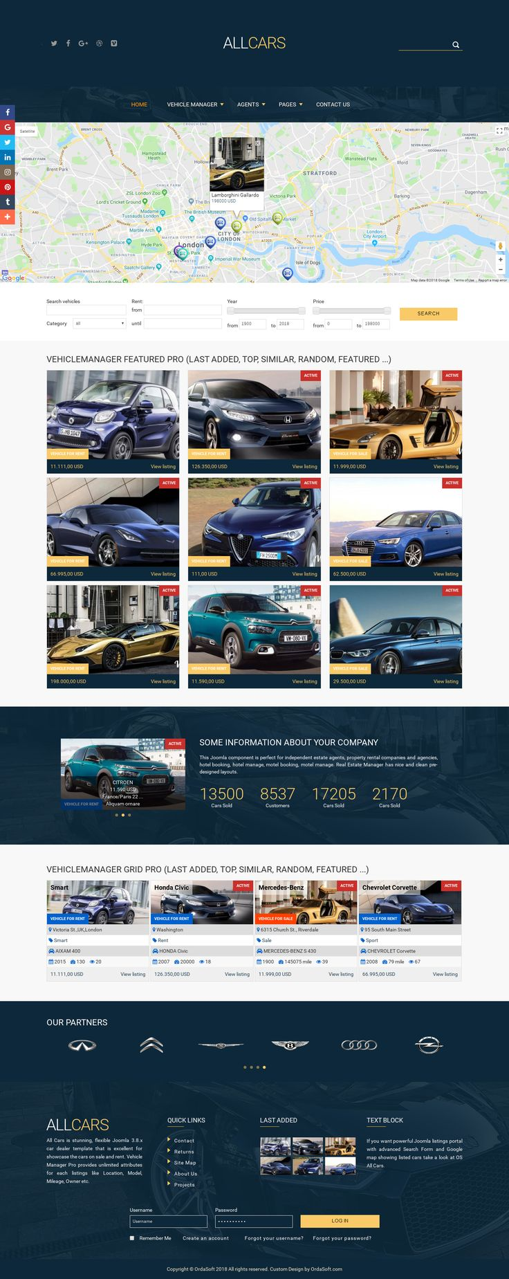23 best Car Templates by Ordasoft images on Pinterest | Joomla ...