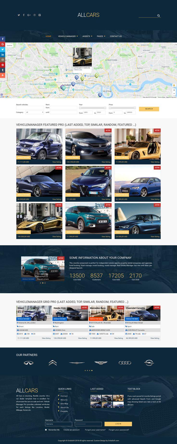 23 best Car Templates by Ordasoft images on Pinterest   Joomla ...