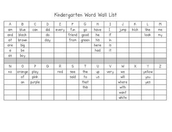 fbde10c71f72946d4c07a26c3c607175 - Kindergarten Word Wall