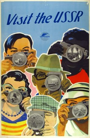 Visit the USSR #tourism #poster (1955) [via Vepca]