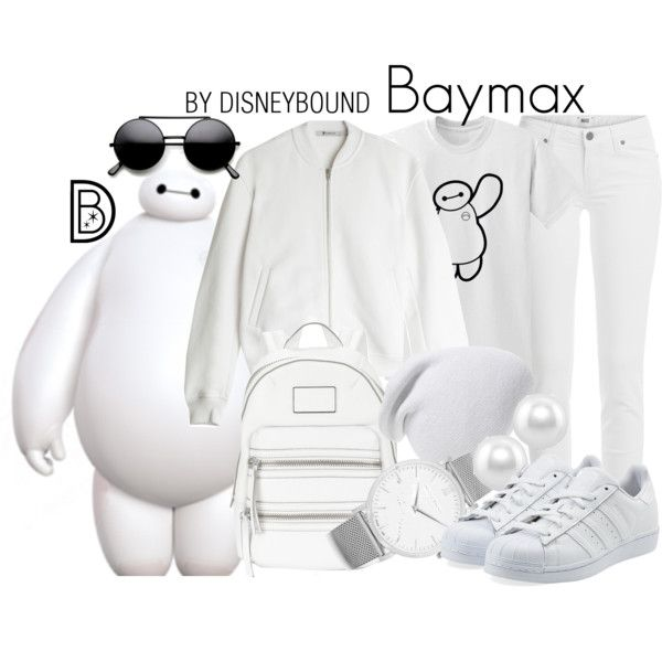 Baymax by leslieakay on Polyvore featuring T By Alexander Wang, Paige Denim, adidas Originals, Marc by Marc Jacobs, Larsson & Jennings, BERRICLE, Phase 3, disney, disneybound and disneycharacter