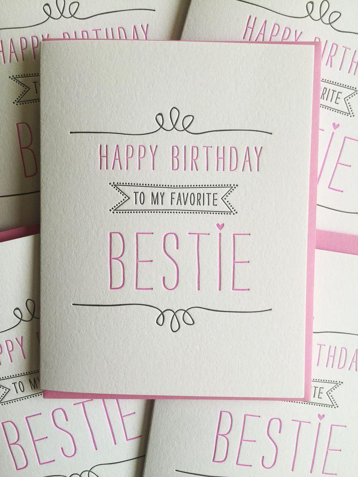 Bester Freund Geburtstagskarte – Letterpress Geburtstagskarte für BFF, Tier, Freundin, DeLuce Design