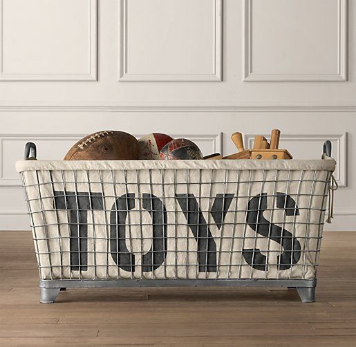 "restoration hardware toy chest | ... & ""toys"" liner , such a great idea instead of a traditional toy box"