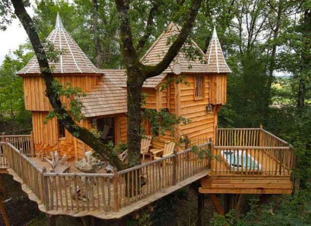 Sleep among the trees in an adorable mini castle for 20 east homes com