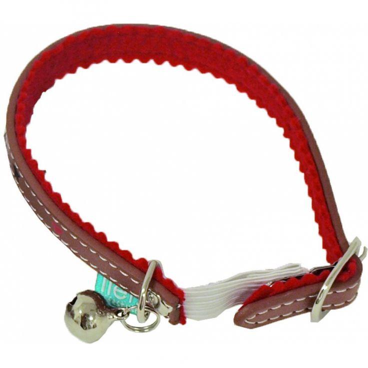 Lief! Katzenhalsband Braun | Rot