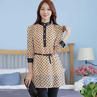 Plus Size Polka Dots mini vestito delle donne con la cinghia – EUR € 18.31