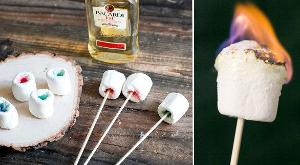 Make flaming Jell-O marshmallow shots. OMG i have to try this!!