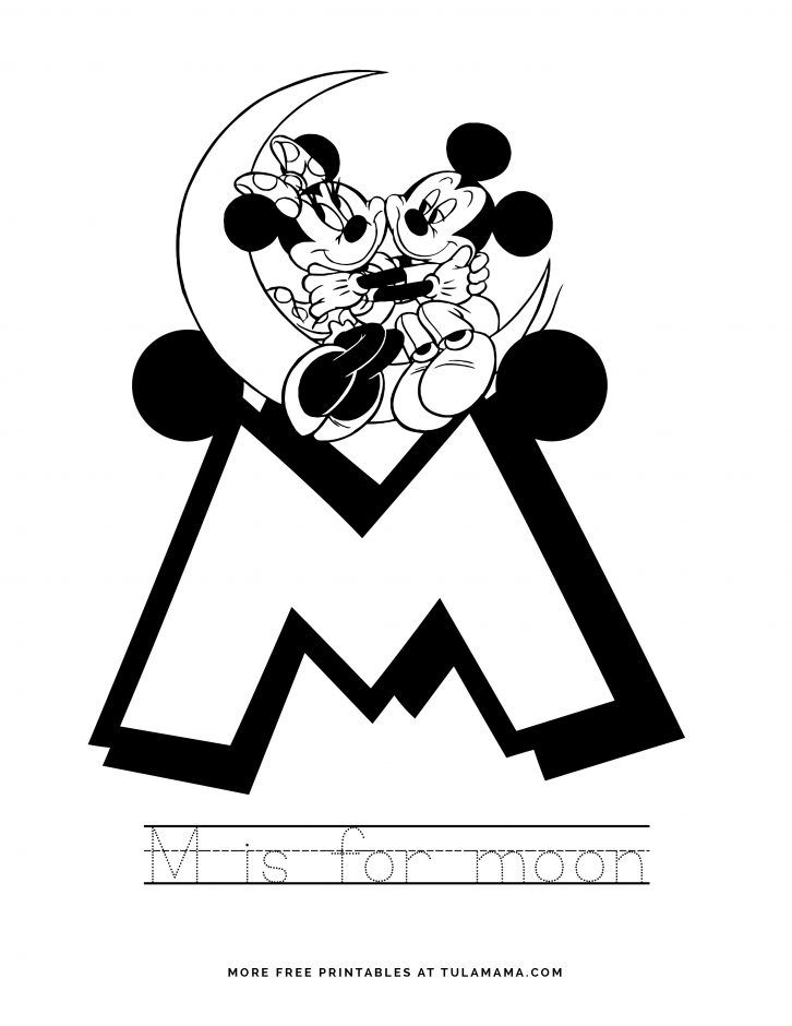 Free Printable Mickey Mouse Abc Letter Tracing For Preschoolers Abc Coloring Pages Mickey Mouse Abc Free Disney Coloring Pages