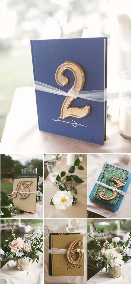 diy Wedding Crafts: Vintage Book Centerpiece Table Numbers