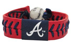 Atlanta Braves  Baseball Seam Team Colored Bracelet