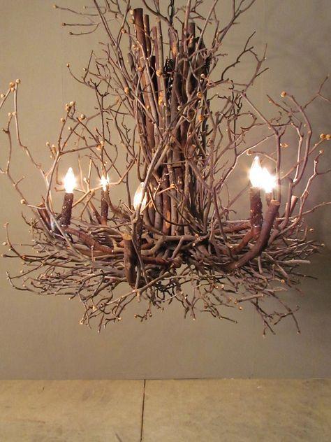 Twig chandelier... So pretty.