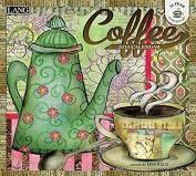 "Lang - 2018 Wall Calendar - ""coffee"" - Artwork By Lisa Kaus - 12 Month"