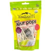 YumEarth, Organics, Sour Pops, Flavor Assortment, 14 Lollipops, 3 oz (85 g)