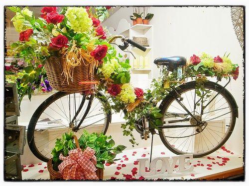 flower shop window display …