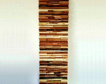 Arte legno recuperato moderna parete scultura di WallWooden