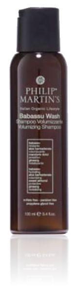Volumegevende shampoo speciaal voor fijn haar met een gebrek aan volume. Extreem mild en met een zacht reinigende werking op het haar en de hoofd-huid. Geeft volume en maakt het haar glanzend.   GEBRUIK: Breng een kleine hoeveelheid van de shampoo aan op de palm van de hand en masseer zacht in op de hoofdhuid. Uitspoelen en herhaal behandeling met een paar minuten durende massage. Uitvoerig uitspoelen. www.philipmartins.biz & .be