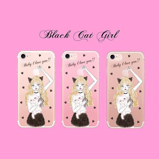 オンラインストアで新デザイン先行発売したよ❤️  クリア、クリアピンク、クリアブラックの3色です🎀    #iphonecase #iPhone #iPhone7 #iPhone6s #iPhoneケース #iphone7plus #Ciara #シアラ#cat#ハート #猫#ネコ#ねこ#pink
