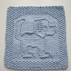 Free Knitting Pattern - Dishclothes & Washcloths : Tail A Wagging Dishcloth