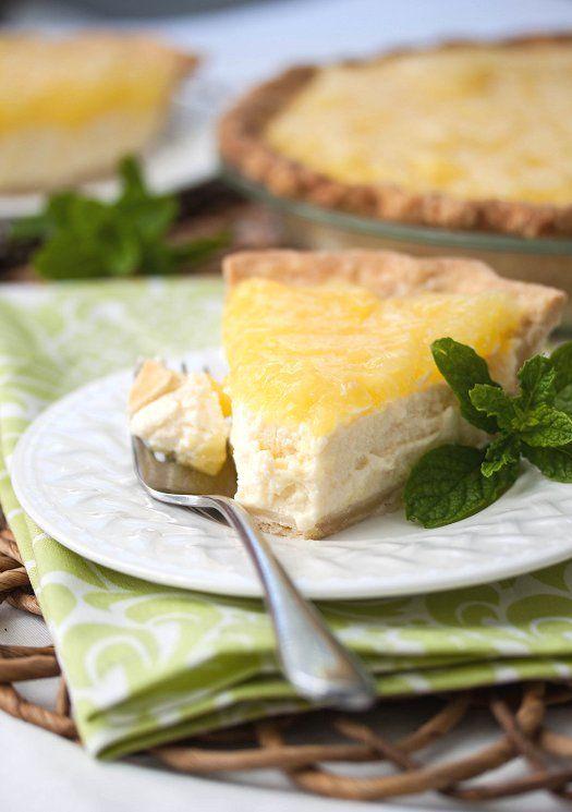 Ricotta-Pineapple Pie | Tide & Thyme Napkin by Hen House!