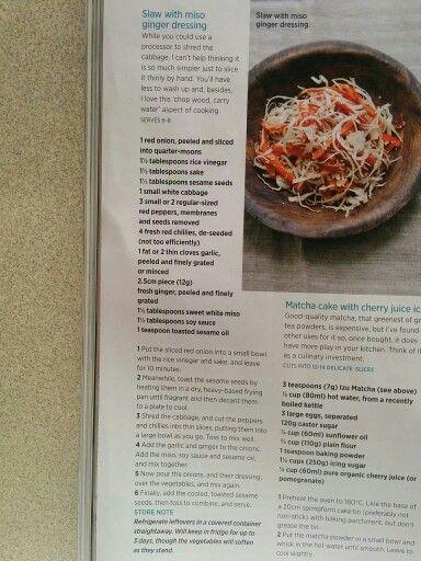 Coleslaw with miso dressing nigella lawson salad
