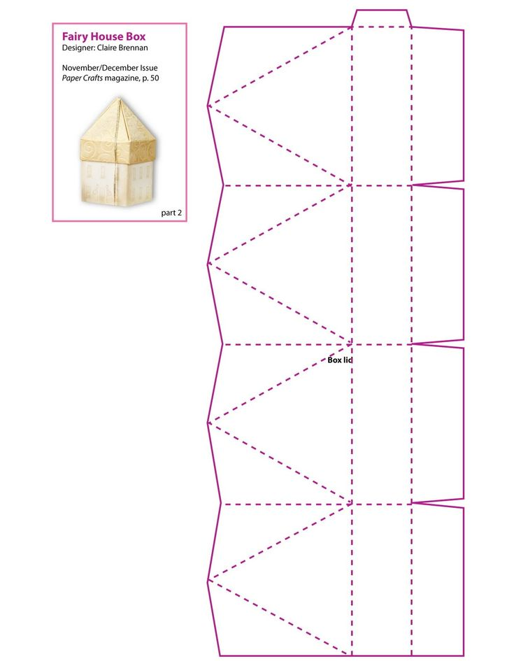 Fairy house box pattern part 2 smaller house cq for House pattern