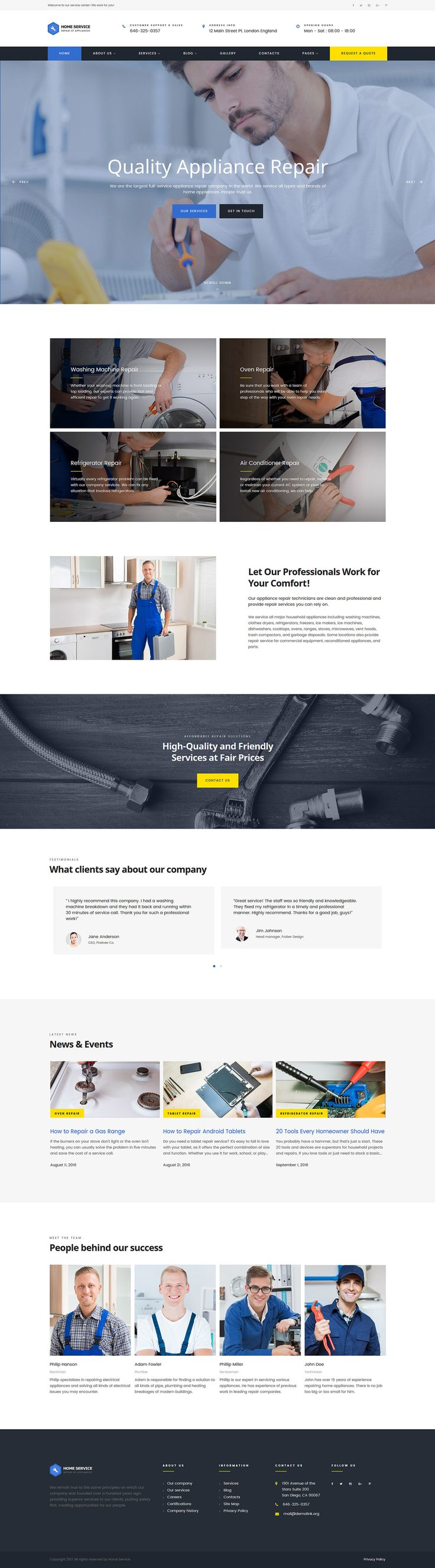 Home Appliance Repair #service  Multipage #HTML  Website #Template